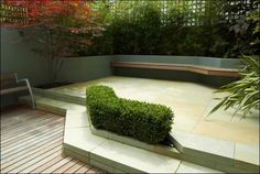 Unique Modern Patio Fenced Garden