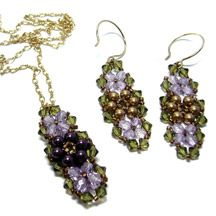 Garden Earrings & Pendant