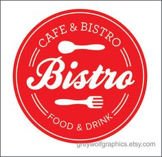 Bistro wall decal Kitchen decor New Design by greywolfgraphics, $25.00