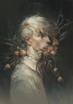 somnio ergo sum — patience by len-yan Dark Fantasy Art, Dark Art, Rabe, Illustration, Art Station, Arte Horror, Boy Art, Pretty Art, Pictures To Draw