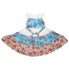 Bella Moda Girls Cotton Flower Print Summer Frock (Multicolor) #summerdresses #dressesforgirls #babyfrocks
