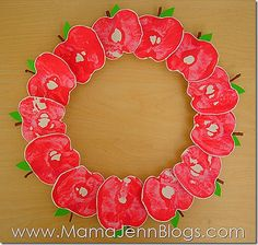 Apple Print Wreath