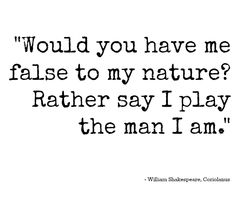 the contradicting nature of hamlet in the play by william shakespeare The tempest study guide contains a biography of william shakespeare,  to claudius' speech to hamlet in act 1 of that play  over nature and animals so.