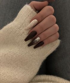 52 Unusual Acrylic Nail Designs Ideas is part of Black coffin nails - With such a wide variety of nail colors, it's tough to choose the one which would suit you Today, silk […] Cute Acrylic Nails, Cute Nails, Gel Nails, Manicures, Nail Nail, Acrylic Nails With Design, Acrylic Nails Autumn, Polish Nails, Gradient Nails