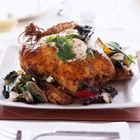 Chicken, Goat Cheese and Greens - Just pick up a ready-to-eat roasted chicken on your way home from work for this easy dinner.