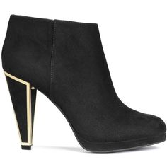 H&M Ankle boots (56 CAD) ❤ liked on Polyvore featuring shoes, boots, ankle booties, black, black bootie, black high heel booties, black platform booties, platform ankle boots and black pointed toe booties
