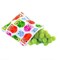 Snack Happens Hoot reusable, washable snack bags $12.95 www.sweetcreations.com.au #sweetcreations #kids #toddler #nudefood #lunchbox