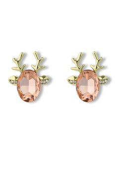 A classy way to wear holiday earrings
