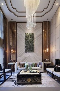 Paying attention to the details of the design is essential in creating a luxury living room interior. Contemporary Interior Design, Luxury Interior Design, Interior Exterior, Contemporary Furniture, Contemporary Garden, Design Interiors, Interior Decorating, Design Entrée, Lobby Design