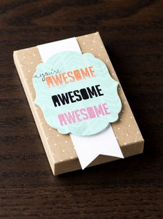 This little gift box is perfect for holding gift cards.