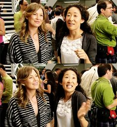 Ellen Pompeo and Sandra Oh :)