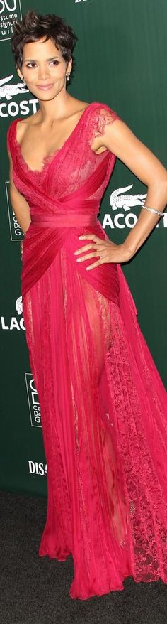 Halle Berry in Elie Saab at the Annual Costume Designers Guild Awards 2011