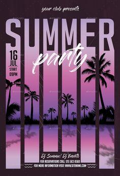 Bundle Summer Flyers Posters 3 in 1 Graphic Design Flyer, Event Poster Design, Creative Poster Design, Poster Design Inspiration, Event Posters, Graphic Design Trends, Creative Posters, Web Design, Flyer Design