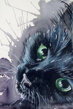 Black cat by kovacsannabrigitta (print image)