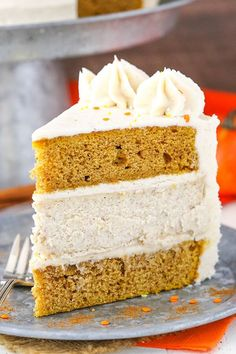 This Pumpkin Cheesecake Cake has two layers of moist pumpkin cake and a layer of spiced cheesecake! All the flavor and textures in the cake are so wonderful together! Such a great cake for the holidays! So this weekend was quite the adventure. We went to register for the babies and my goodness there's SO …