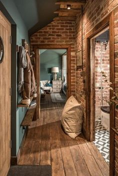 Dekoration Wohnung – The Sanctuary – Hampshire, UK Brick plus blue: colors! … Dekoration Wohnung – The Sanctuary – Hampshire, UK Brick plus blue: colors! The Sanctuary – Hampshire, UK Brick plus blue: colors! Source by maiaeuphoria Living Room Red, Home And Deco, Exposed Brick, Design Case, Cheap Home Decor, Colorful Interiors, Black Interiors, Home Interior Design, Interior Paint