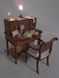 Dolls House Furniture Hall Stand JiaYi 8068 01   Hall Stand, Doll Houses  And Miniature Houses