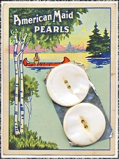 Old Pearl Button Card