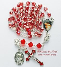 Pope John Paul II Rosary 187C by Amy Hoffman of Yellowknife, NT. $58.50 Tlicho Online Store