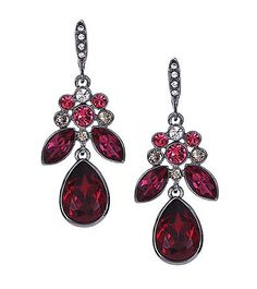 Givenchy® drop earrings: How terrific are these elegant earrings from Givenchy®? The vintage style with the ruby-like stones make these feel extra special and perfect for Valentine's Day dates.
