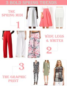 3 Bold Spring Fashion Trends - Must See!