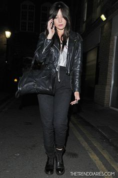 Daisy Lowe out in London, England