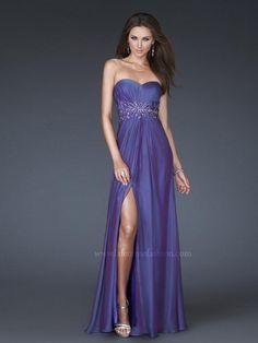 Empire Herz-Ausschnitt Ärmellos Schlitz Chiffon Bodenlang Mehrfarbig Rückenfrei billige abendkleider $262 elegante abendkleider