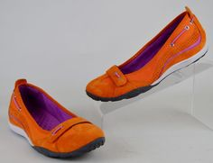 Clarks Privo Women's Size 6.5 M Bright Orange Suede Loafers Shoes #Clarks #LoafersMoccasins #Casual