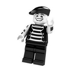LEGO Minifigure Collection Series 2 LOOSE Mini Figure Mime Artist by LEGO. $2.75. One Minifigure from a set of 16. Series 2 Minifigure. Each LEGO? minifigure is inspired by movies, sports, history or everyday life.. Includes special accessories, display plate and collector's leaflet.. His torso is a pirates torso coloured black and white!