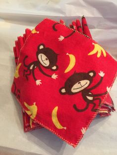 Smiling monkeys! baby wipes, tissues, napkins, family cloth, makeup remover, wash cloth, eco-friendly reusable set of 24 by SouthernChicBeads on Etsy https://www.etsy.com/listing/234098071/smiling-monkeys-baby-wipes-tissues