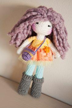 Handmade Crochet Dolls by LinaMarieDolls on Etsy  ---  Lavender crochet doll.