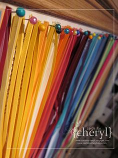 a paper life ~ quilling paper....storage ~ & I Create Purty Thangs: Quilling Strips Storage | Cool Ideas ...
