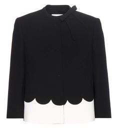 RED Valentino Black and ivory crêpe jacket