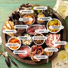 When creating a party platter or party tray—such as veggie trays, fruit trays, cheese trays, and charcuterie boards—the options are endless. Don't be overwhelmed. Use these party platter ideas to get you started. Customize each tray as you like for guests' flavor preferences and the foods you find on sale when you make your grocery trip.