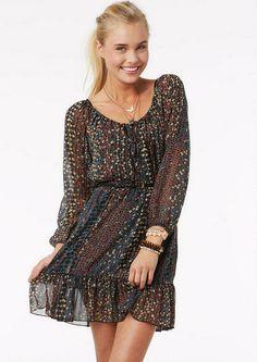 Floral Chiffon Ruffle Dress - View All Dresses - Dresses - Clothing - dELiA*s