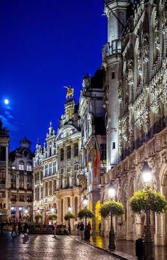 Brussels, Belgium at night