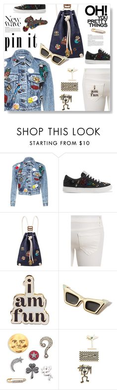"""""""Pretty Things..."""" by desert-belle ❤ liked on Polyvore featuring Marc Jacobs, IF Bags, ban.do, Love Bravery, Anja, Stussy, chloe, pins and polyvoreeditorial"""