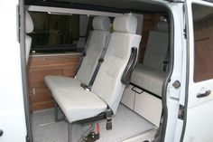 Middle row removeable seats for camper - VW Forum - VW Forum T5 Transporter, Volkswagen Transporter, Vw T5 Forum, Camper Conversion, Back Seat, The Row, Car Seats, Middle, Van
