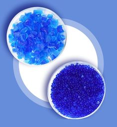 """Silica gel blue is a semi-transparent glassy substance that contains an indicator called """"Cobalt"""". When free from moisture, the beads & crystals are dark blue in color. Contact Us: +91 9904204266 marketing@sorbeadindia.com www.silicagel-desiccant.com www.swambe.com #silicagel #breathermanufacturer #transformer #petrochemical Crystal Beads, Crystals, Silica Gel, Blue Beads, Moisturizer, Semi Transparent, Cobalt, Dark Blue, Marketing"""