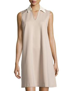 Lace-Collar+Sleeveless+Dress,+Stone+Mason+by+Nanette+Nanette+Lepore+at+Neiman+Marcus+Last+Call.
