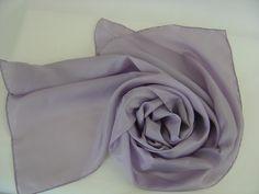 Seidenschals - Seidenschal 180x45cm flieder mauve Pongee Schal - ein Designerstück von textilkreativhof bei DaWanda