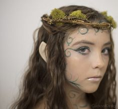 Our luscious garden had the perfect materials for this year's Halloween costume which is a forest elf or fairy costume made from twigs, leaves and makeup Diy Elf Costume, Pixie Costume, Fairy Halloween Costumes, Halloween 2020, Vampire Costumes, Pirate Costumes, Diy Halloween, Costume Ideas, Woodland Fairy Makeup