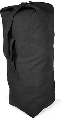 ArmyUniverse Black Jumbo Top Load Canvas Military Duffle Bag 25 x 42 --  Want to know more 06926de0538