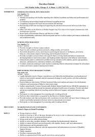 Psychologist Resume My Personal Study Page  Template And Outlines