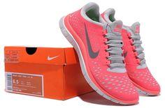 56%-off Womens Nike Free Run 3.0 V4 Pink Running Shoes