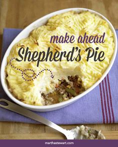 This shepherd's pie is your answer to all things family, holiday and party. | Martha Stewart Living
