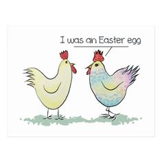 Funny Chicken was an Easter Egg Postcard #easter #cards #postage