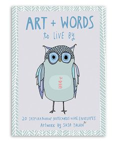 Look what I found on #zulily! Art + Words to Live By Hand-Drawn Note Card - Set of 20 #zulilyfinds