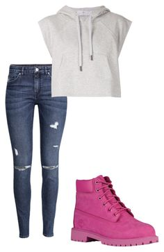 """Untitled #257"" by vaehpooh on Polyvore featuring H&M, adidas and Timberland"