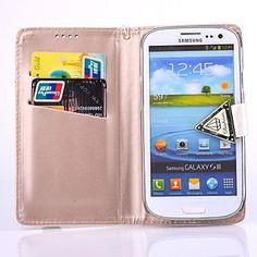 luxe diamant pu lederen full body case met standaard en kaartslot voor Samsung Galaxy S3 i9300 (verschillende kleuren) – EUR € 10.44